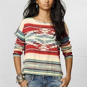 Ralph Lauren Southwestern Cotton/Linen Sweater M